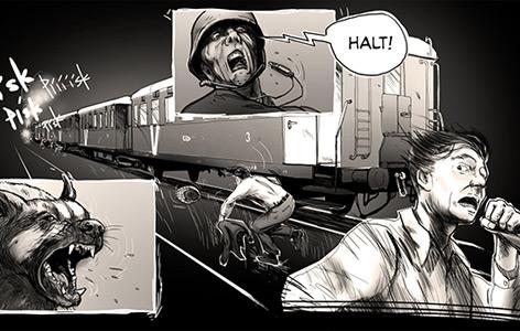 "Ausschnitt aus dem Computerspiel ""Attentat 1942"""