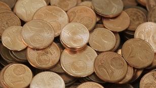 Mehrere 1-,2- und 5- Cent Münzen