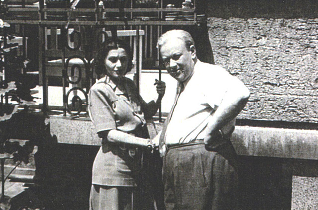 Richard Kauder (Klatt) und seine Verlobte Ibolya Kálmán, Sofia 1942 (Privatbesitz)