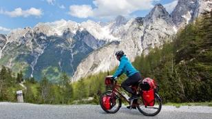 Radfahrer in Bergen