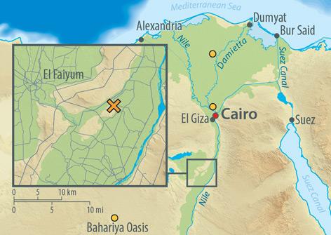 Karte von Ägypten