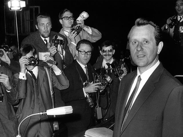 Karl-Heinz Kurras vor Prozessbeginn im Landgericht in Berlin im November 1967