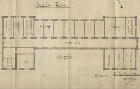 Isolationszellen, Heil- und Pflegeanstalt Emmendingen (1910), Staatsarchiv Freiburg B 698, Sig. 5062