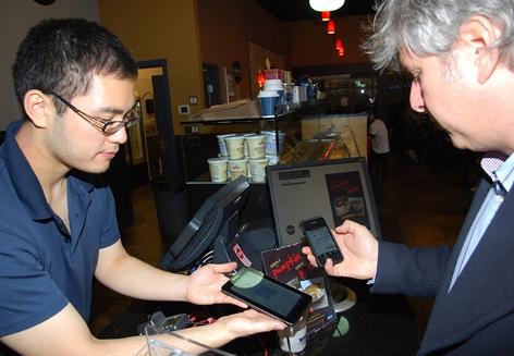 Im Bitcoincafé in Vancouver