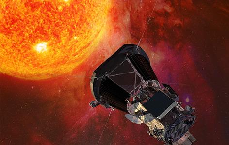 """Künstlerische Illustration der """"Parker Solar Probe"""""""
