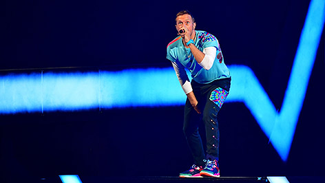 Chris Martin von Coldplay auf der Bühne
