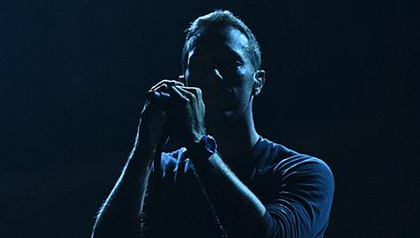 Chris Martin auf der Bühne