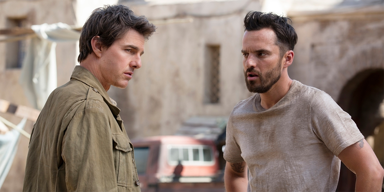 "Tom Cruise und Jake Johnson in ""the mummy"""