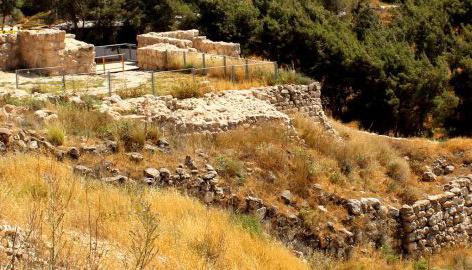 Ausgrabungsstätte Tel Lachish in Israel