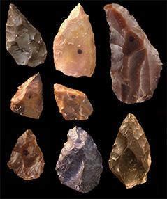 Steinwerkzeuge aus der Mittelsteinzeit