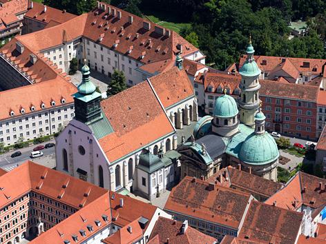 Der Grazer Dom von oben