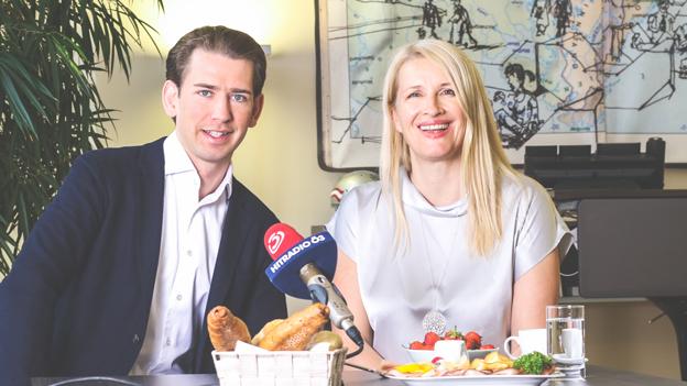 Sebastian Kurz mit Claudia Stöckl