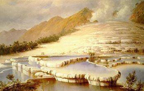 Charles Blomfield (1848–1926): Title White Terraces, New Zealand