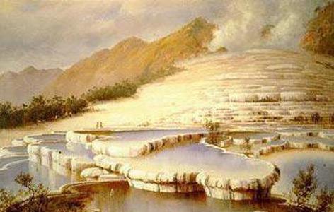 Charles Blomfield (1848–1926): Title White Terraces, New Zealand