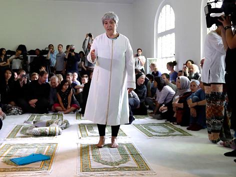 Seyran Ates in der Ibn-Rushd-Goethe-Moschee