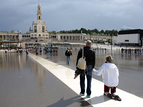 Pilger in Fatima, Portugal