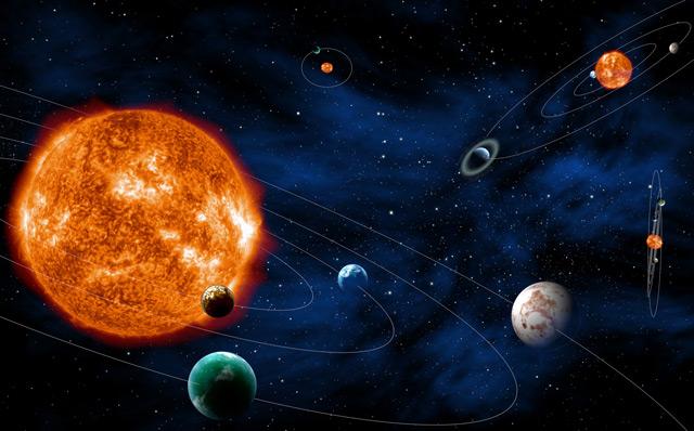 Künstlerische Darstellung: Planeten, die ihre Sterne umkreisen