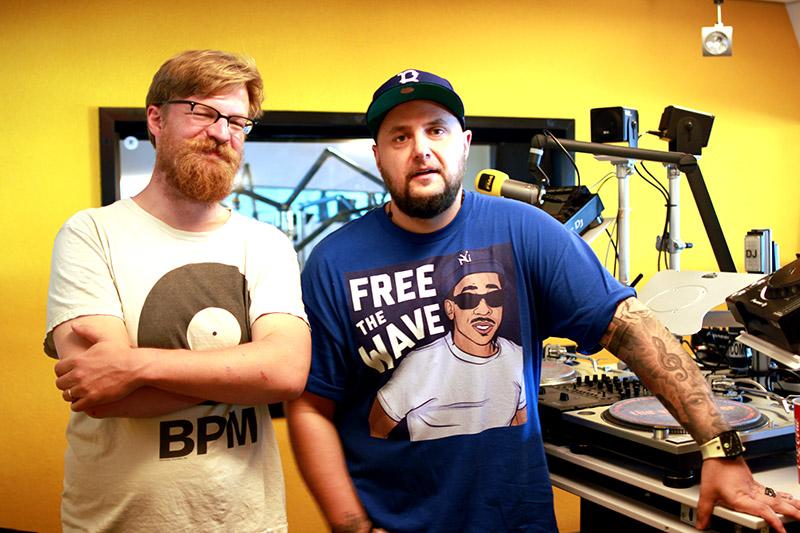 Stefan Trischler und Brenk Sinatra im FM4 Studio