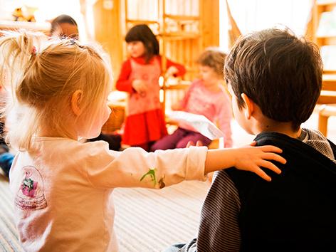 Zwei Kindergartenkinder