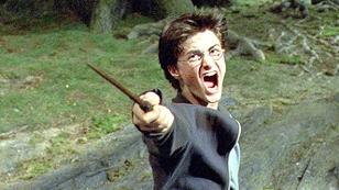 Harry Potter mit Zauberstab