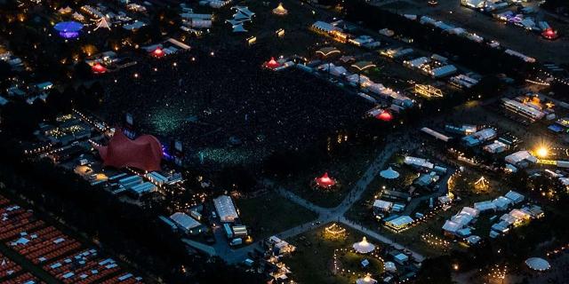 Roskilde Festivalgelände aus der Luft