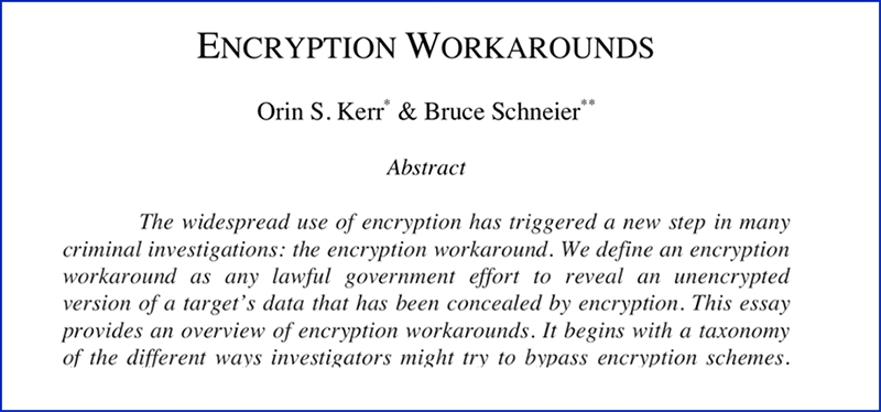 "Screenshot ""Encryption Workarounds"""