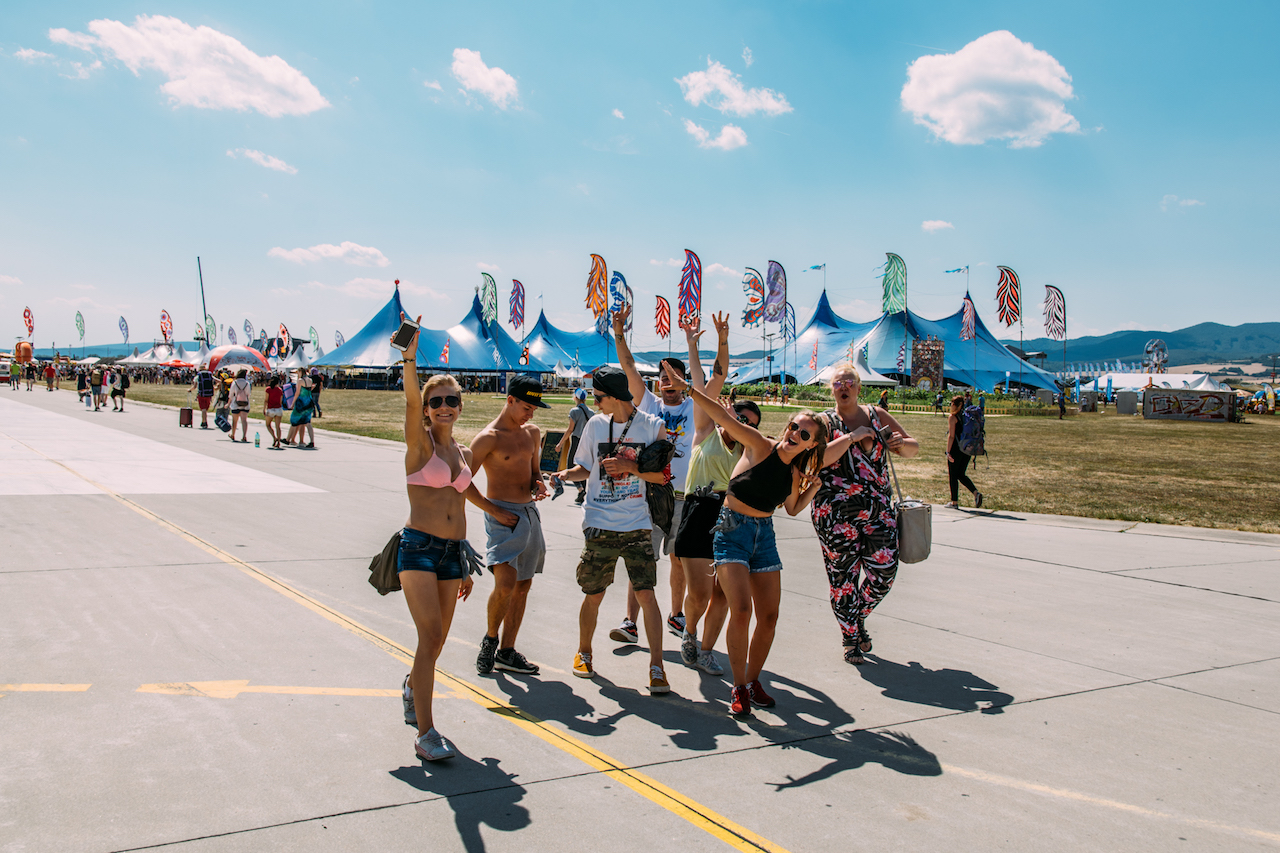 BesucherInnen am Pohoda Festival