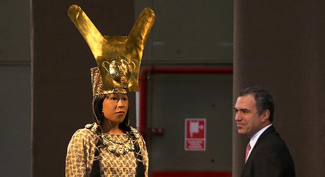 Modell der peruanischen Herrscherin Senora de Cao (Fürstin von Cao)