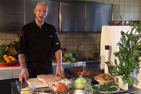 Martin Gruber in der Küche