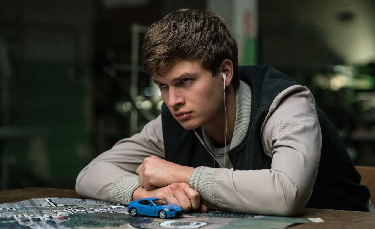 "ansel elgort in ""baby driver"""