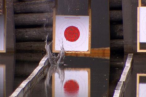 Zielscheibe beim Preberseeschießen bei Tamsweg