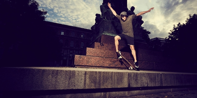 Camo beim Skaten
