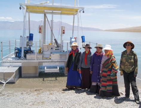 Bohrplattform in Tibet