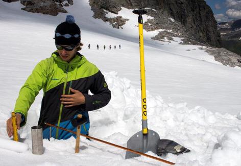 Schneeschacht am Stubacher Sonnblickkees