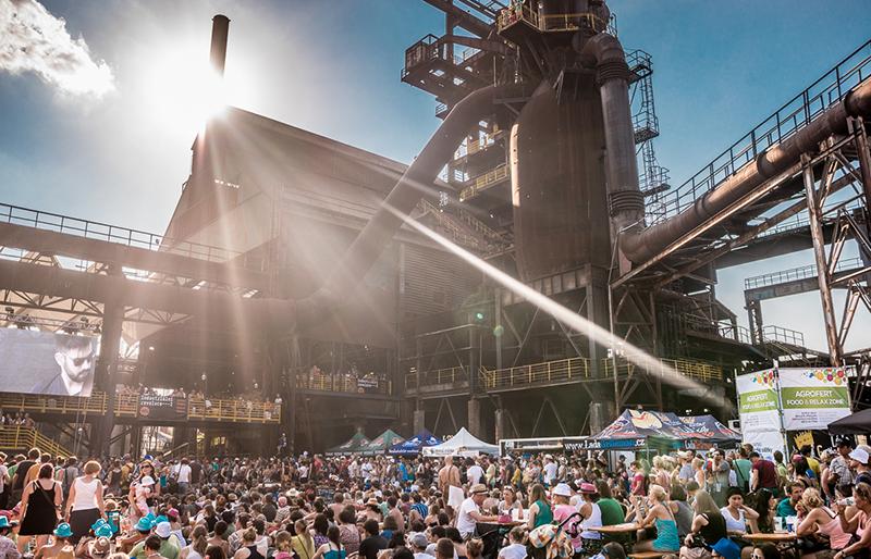 Das Festivalglände des Colours of Ostrava Festival