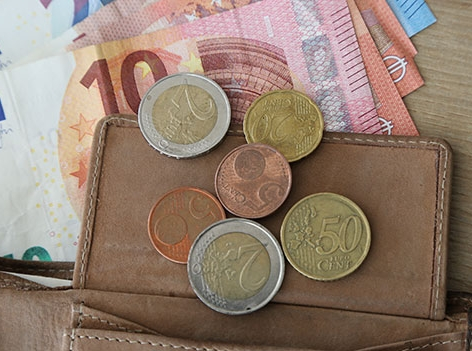 Bargeld in Geldtasche