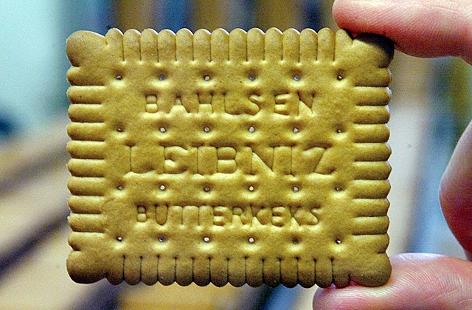 Ein Leibniz-Butterkeks von Bahlsen