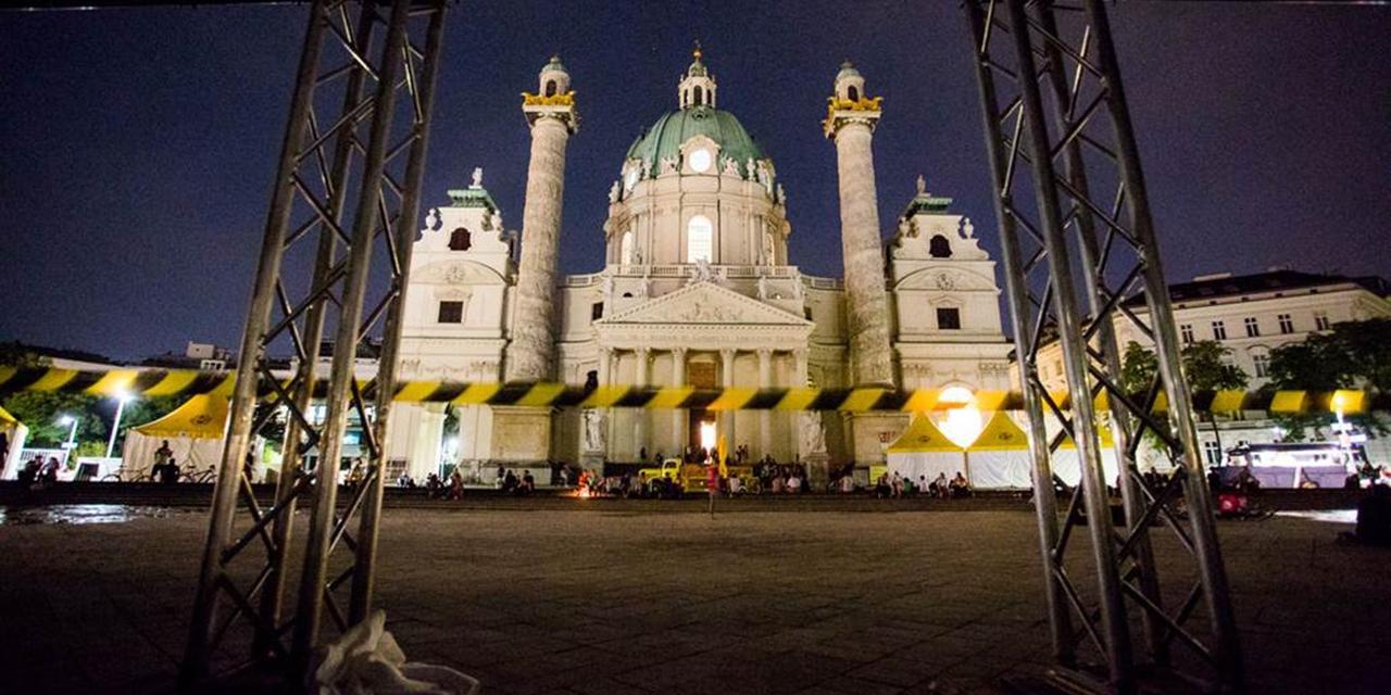 Karlskirche nach dem Popfest