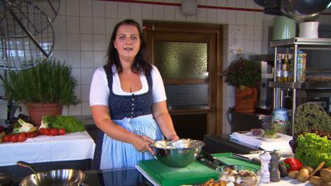 Kartoffel-Crepes mit Schwammerl