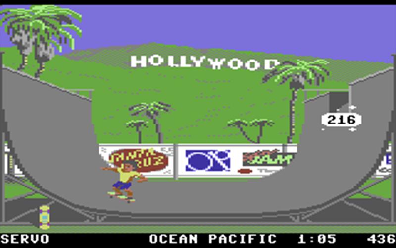 """Pixel Halfpipe, Scrrenshot aus  """"California Games"""""""