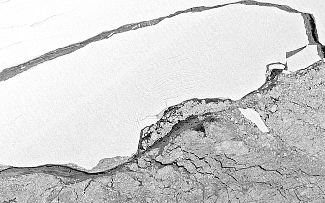 Satellitenbild: Eisberg A68