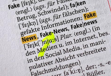 """Begriff """"Fake-News"""" im Duden"""