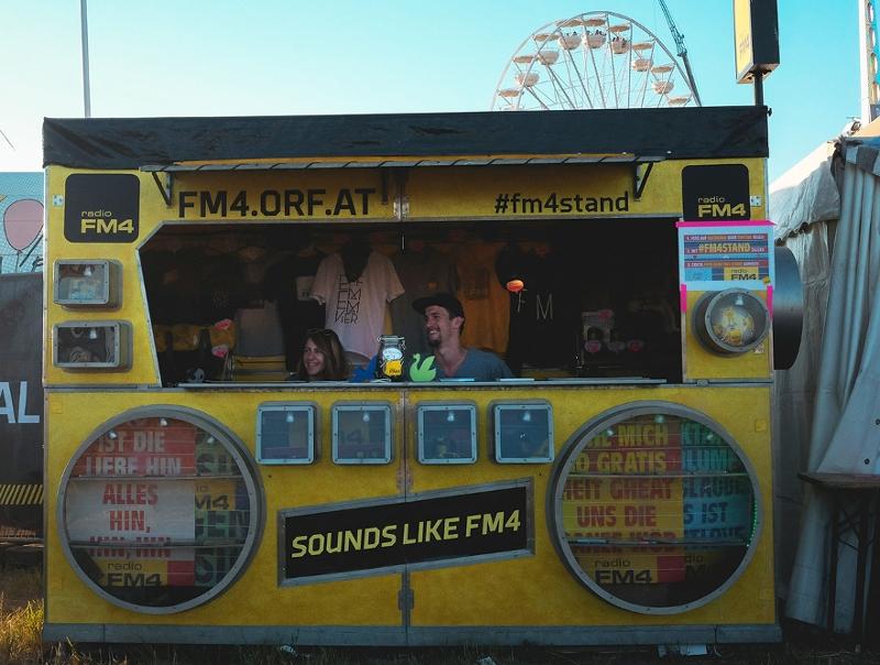 Der FM4 Stand am Nova Rock