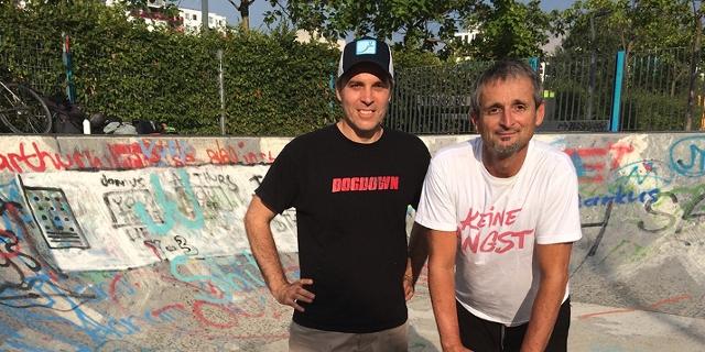 Hans-Peter Hutter und Michael Reinwald im Wiener Bednar Park