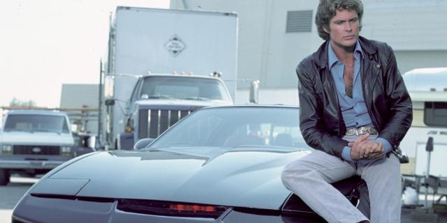 David Hasselhoff als Knight Rider in der Originalserie