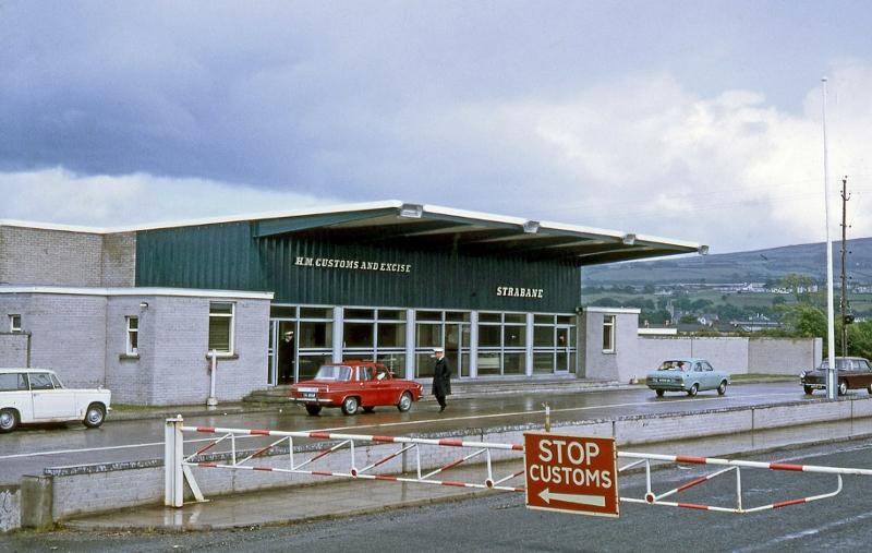 Irische-nordirische Grenze 1968