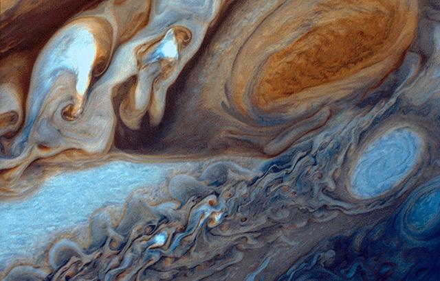 Detail der Oberfläche von Jupiter