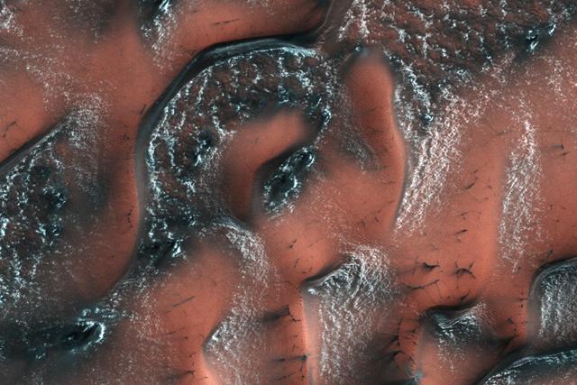 Aufnahme von Marsdünen