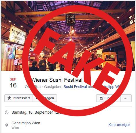 Fake Sushi-Veranstaltung