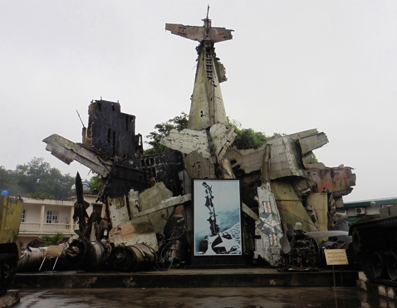 A war memorial in Hanoi